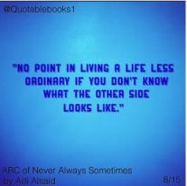 no point in living a life