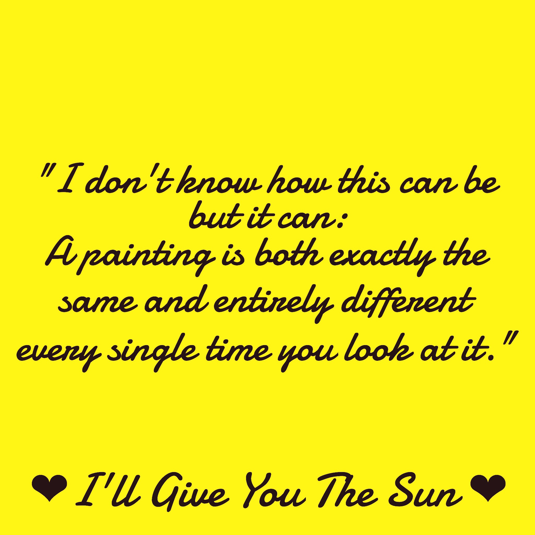 Review Of Ill Give You The Sun By Jandy Nelson Living In A World